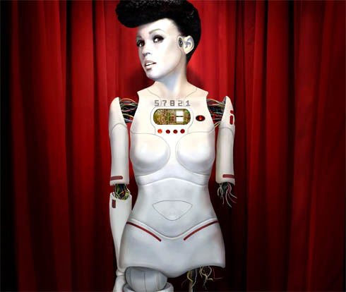 "The cover for Monaé's ""The Chase Suite"" shows her as a damaged cyborg in gleaming white plastic."